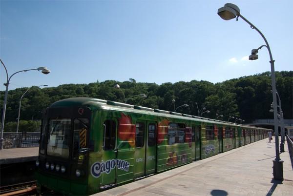 Так выглядят разукрашенные вагоны киевского метрополитена