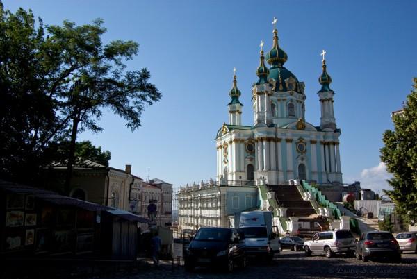 Андреевская церковь и начало Андреевского спуска
