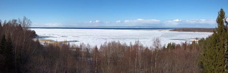 Панорама Финского залива с маяка
