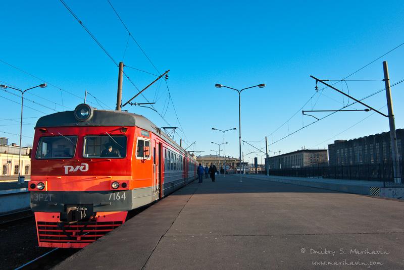 Балтийский вокзал. Электричка. РЖД.